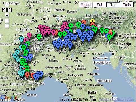 Cartina Fisica Italia Valichi.Passi Delle Alpi