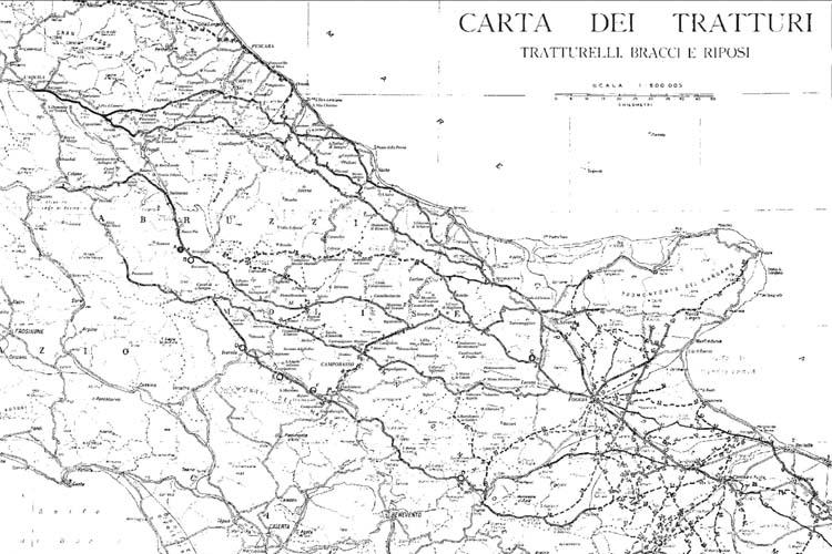 Cartina Ruvo Di Puglia.Mappa Dei Tratturi